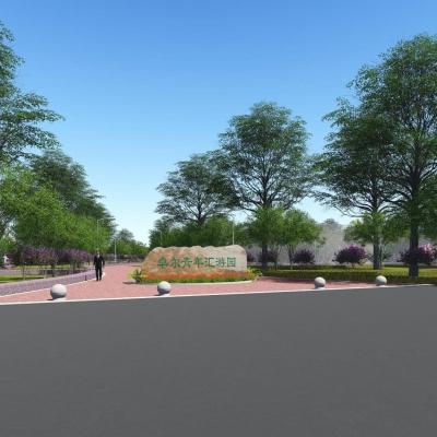 武汉市黄陂区盘龙城经济开发区青年汇游园景观设计(2017)